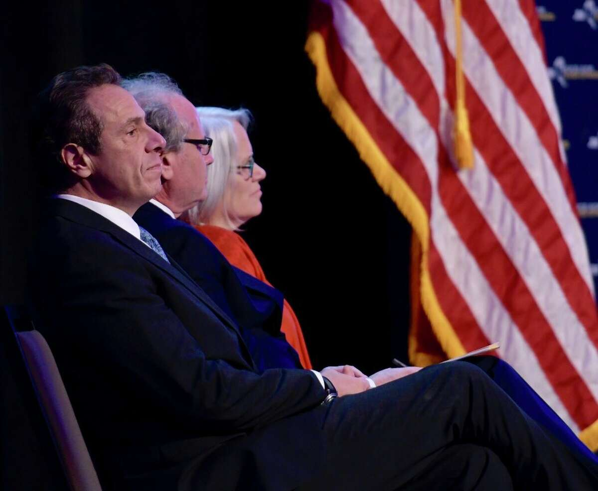 Gov. Andrew Cuomo at the announcement of the Regional Economic Development Awards on Wednesday, Dec. 13, 2017, in Albany, NY. (Skip Dickstein/Times Union)