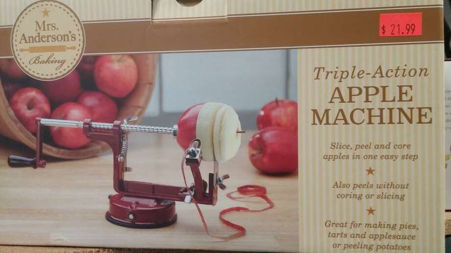 An old-fashioned apple peeler. Photo: Frank Whitman / For Hearst Connecticut Media