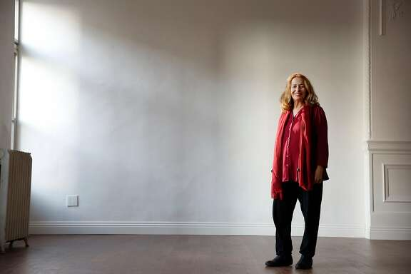 Linda Ayres Frederick, actor, playwright, sometime theater critic and artistic director of Phoenix Theatre, stands for a portrait in a new theater space for Phoenix Theatre  on Friday, December 8, 2017 in San Francisco, Calif.