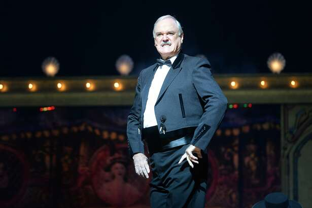 LONDON, ENGLAND - JULY 20:  (EXCLUSIVE COVERAGE) John Cleese performs on the closing night of 'Monty Python Live (Mostly)' at The O2 Arena on July 20, 2014 in London, England.  (Photo by Dave J Hogan/Getty Images)