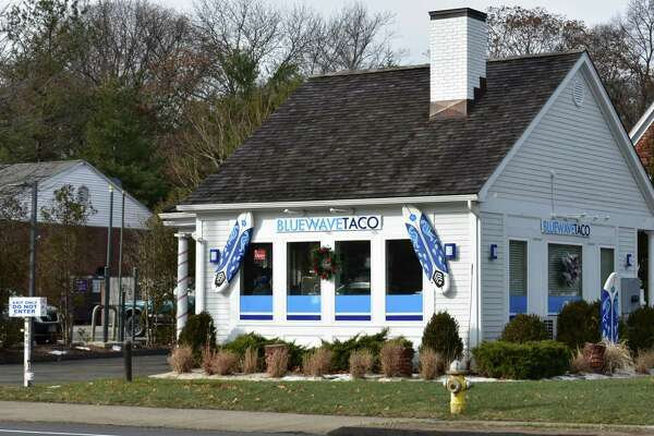 """205 Boston Post Road, Darien — The drive-through hut is open anew at the eastern edge of Darien on the Norwalk border, with Blue Wave Taco opening last month in the former home of Palmwich, Real Food Drive Thru at 205 Boston Post Road. The Blue Wave Taco menu includes Cali-style tacos, burritos and other """"killer beach chow"""" in the words of its Facebook page. The Greenwich-based private equity firm Palm Ventures won last month rights to the Blue Wave Taco trademark."""