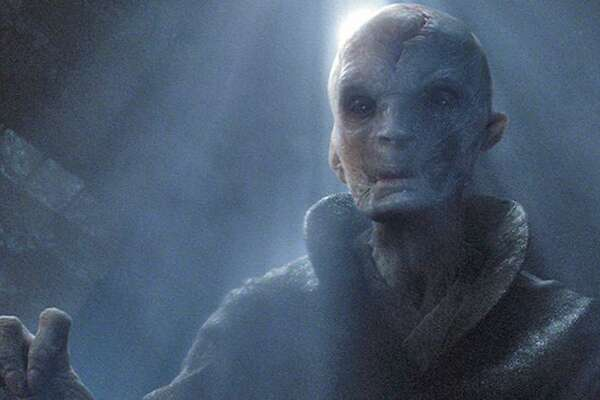 """Andy Serkis as Supreme Leader Snoke in the """"Star Wars: The Force Awakens."""" The character returns in """"Star Wars: The Last Jedi."""""""