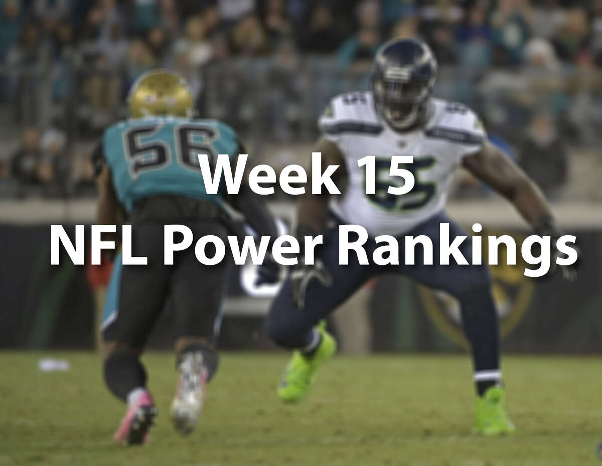 Scroll through to see our NFL power rankings after Week 15.