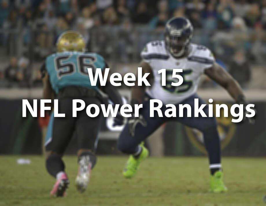Scroll through to see our NFL power rankings after Week 15. Photo: Phelan M. Ebenhack/AP