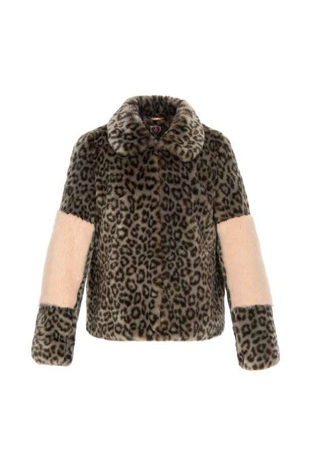 Shrimps leopard jacket with blocked sleeves, $595, available in San Francisco at Elizabeth Charles, www.elizabeth-charles.com Photo: Shrimps