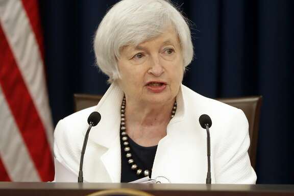 FILE - In this Wednesday, Sept. 20, 2017, file photo, Federal Reserve Chair Janet Yellen speaks at a news conference following the Federal Open Market Committee meeting in Washington. On the day when Yellen will hold her final news conference as Federal Reserve chair, the Fed has left little doubt what it plans to do Wednesday, Dec. 13, 2017: Raise its benchmark interest rate for the third time this year. (AP Photo/Pablo Martinez Monsivais, File)