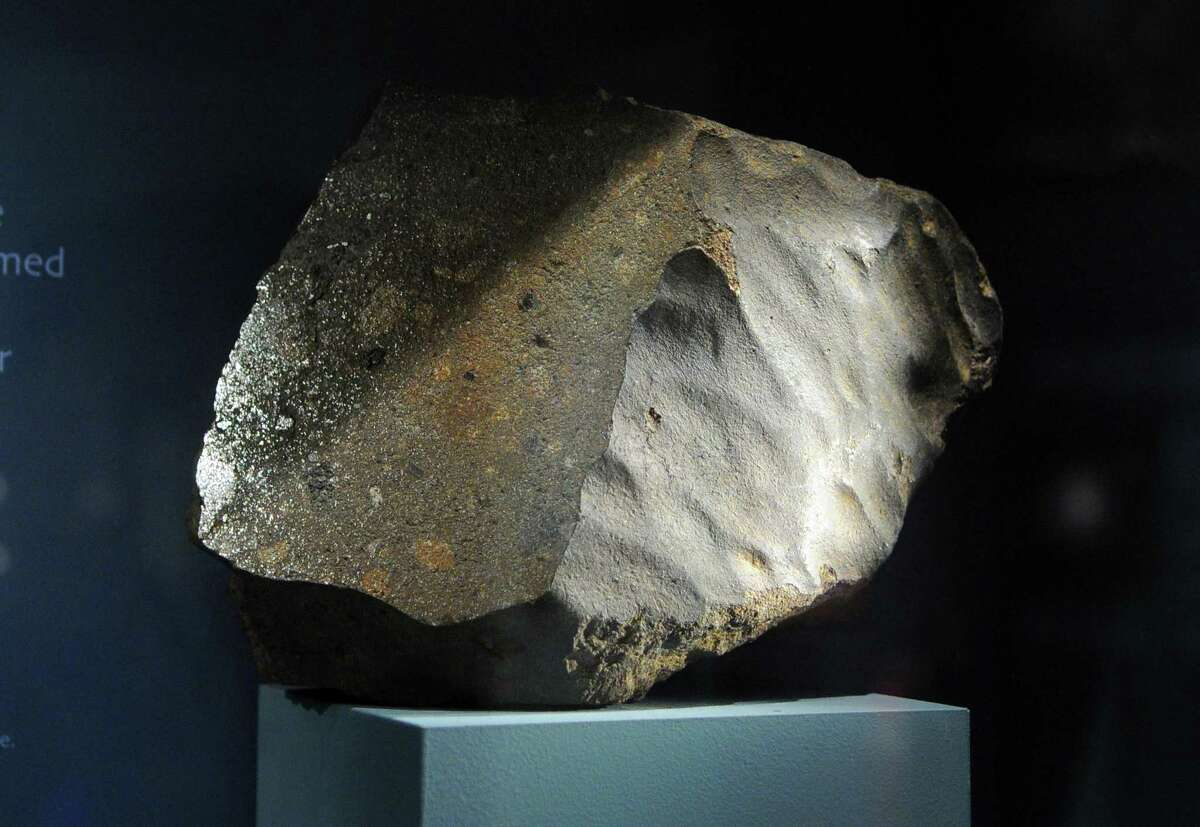 A view of the Weston Meteorite on display at the Yale Peabody Museum of Natural History in New Haven, Conn., on Wednesday Dec. 6, 2017.
