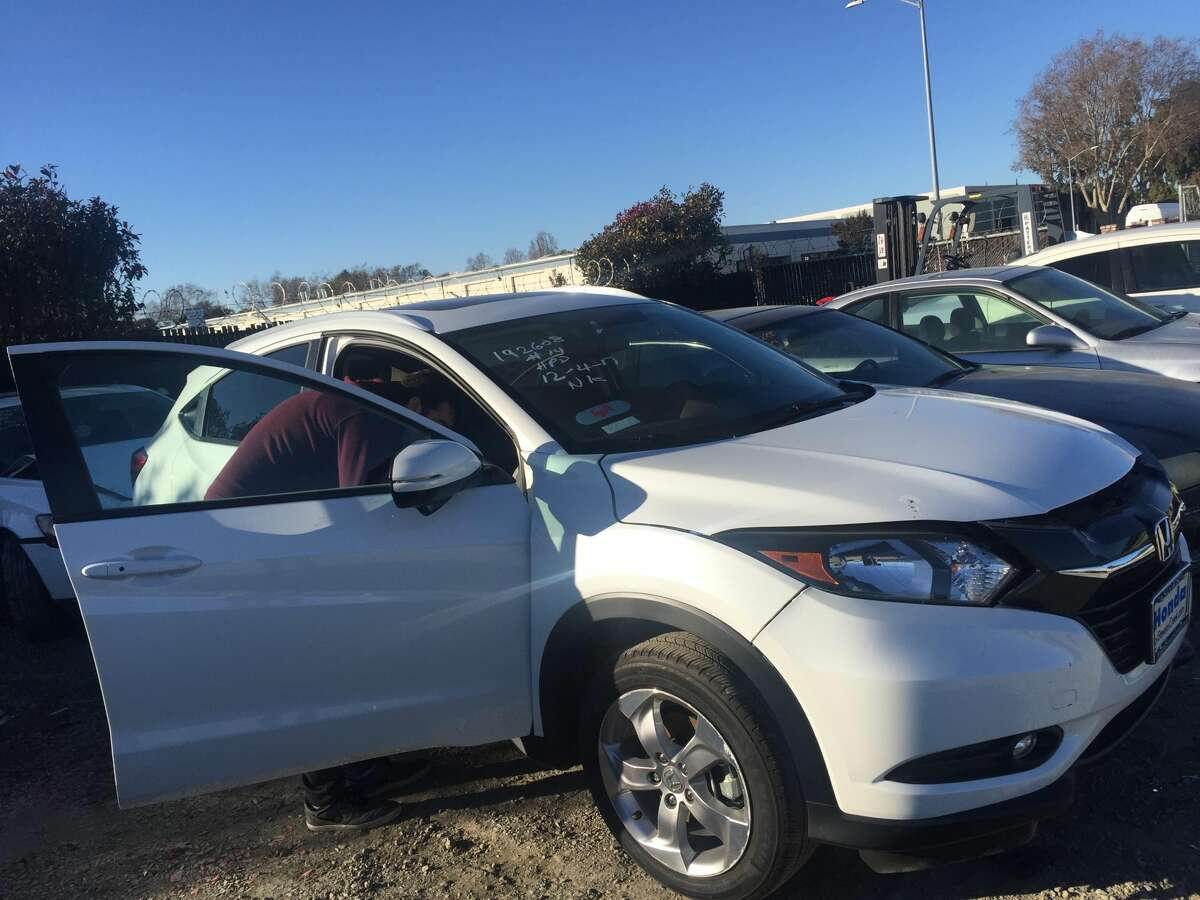 Cierra and Josh Barton's brand-new Honda CRV was stolen from their Livermore apartment complex in August. Four months later, police recovered it in Hayward. The vehicle had Lyft stickers on its front and rear windows and a pillow, jacket and stuffed animal in the trunk, Cierra Barton said.