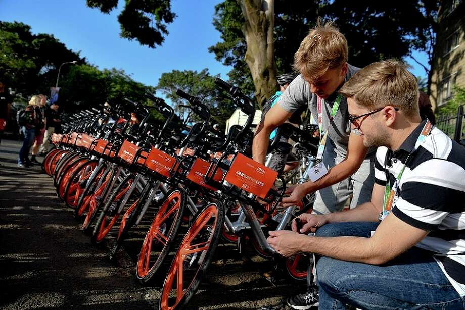 The Woodlands Township recently entered into an agreement to bring bike-share program Mobike to the township. Photo: Photo Courtesy Mobike