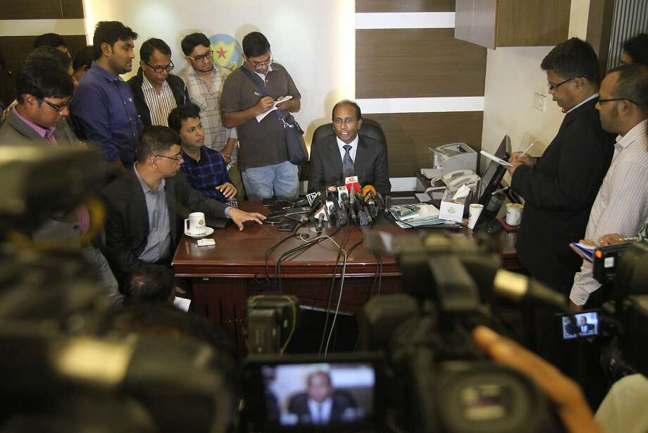 Monirul Islam, a top official of Bangladesh's counterterrorism department addresses the media at the Dhaka Metropolitan Police (DMP) media center in Dhaka, Bangladesh, Wednesday, Dec. 13, 2017. The man accused of carrying out a bomb attack in New York City's subway system was influenced by the sermons and writings of a radical Muslim preacher, but appeared to have no known links to local radical groups, Bangladeshi officials said Wednesday. The suspect, identified as Akayed Ullah, a 27-year-old Bangladeshi immigrant, had asked his wife in Bangladesh to read the writings and listen to the sermons of Moulana Jasimuddin Rahmani, the currently imprisoned leader of a banned group called Ansarullah Bangla Team, said Monirul Islam. (AP Photo) Photo: Associated Press