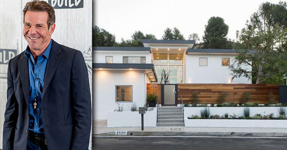 PHOTOS: Before-and-after the renovation on Dennis Quaid's new L.A. homeHouston actor Dennis Quaid purchased this $3.9 million home in the Brentwood Hills area of Los Angeles after it underwent a major makeover.>>>See how the home looked before and after renovation ... Photo: Getty Images | Realtor.com