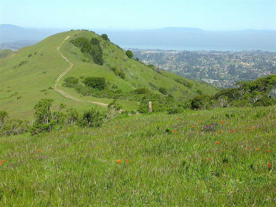 From Inspiration Point at Tilden Regional Park, a 5-mile mountain bike ride on Nimitz Way followed by short hike leads to a hilltop view a dramatic 360-degree view of the north bay. Photo: Tom Stienstra, Tom Stienstra / The Chronicle