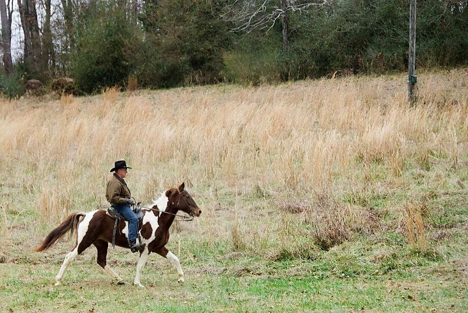 Roy Moore and Sassy, the horse he couldn't quite ride in on. Photo: JIM WATSON, AFP/Getty Images