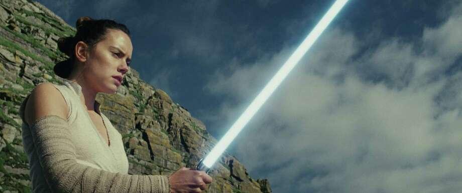 "Rey (Daisy Ridley) in ""Star Wars: The Last Jedi."" Photo: Lucasfilm Ltd., HO / TNS"