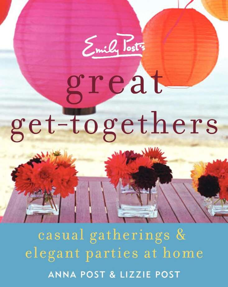 "This book cover provided by Emily Post shows the cover of ""Emily Post's Great Get-Togethers,"" by Anna Post and Lizzie Post. The Fourth of July is right around the corner and that means barbeques, picnics, and parties with a patriotic theme in addition to the annual fireworks displays. Photo: Emily Post"