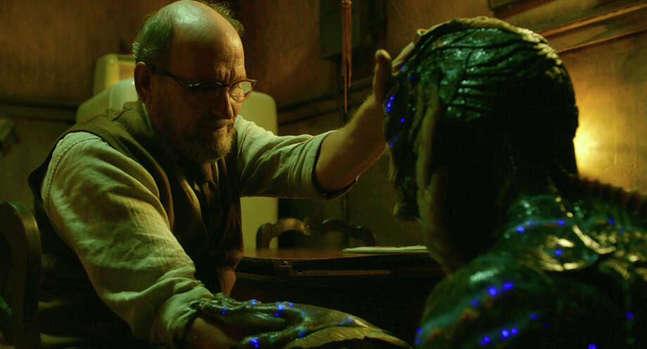 "This image released by Fox Searchlight Pictures shows Richard Jenkins, left, and Doug Jones in a scene from the film ""The Shape of Water."" On Monday, Dec. 11, 2017, Jenkins was nominated for a Golden Globe for best supporting actor in a motion picture for his role in the film. The 75th Golden Globe Awards will be held on Sunday, Jan. 7, 2018 on NBC.  (Fox Searchlight Pictures via AP) Photo: Fox Searchlight Pictures, HONS / © 2017 Twentieth Century Fox Film Corporation All Rights Reserved"