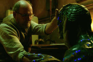 "This image released by Fox Searchlight Pictures shows Richard Jenkins, left, and Doug Jones in a scene from the film ""The Shape of Water."" On Monday, Dec. 11, 2017, Jenkins was nominated for a Golden Globe for best supporting actor in a motion picture for his role in the film. The 75th Golden Globe Awards will be held on Sunday, Jan. 7, 2018 on NBC.  (Fox Searchlight Pictures via AP)"