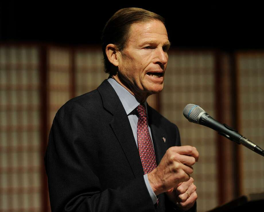 Senator Richard Blumenthal speaks at the Vigil to #End Gun Violence at the Unitarian Church of Westport in Westport, Conn. on Sunday, December 10, 2017. Photo: Brian A. Pounds / Hearst Connecticut Media / Connecticut Post