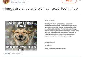 """""""Things are alive and well at Texas Tech lmao,"""" @drewr0bersonn tweeted on Dec. 8."""