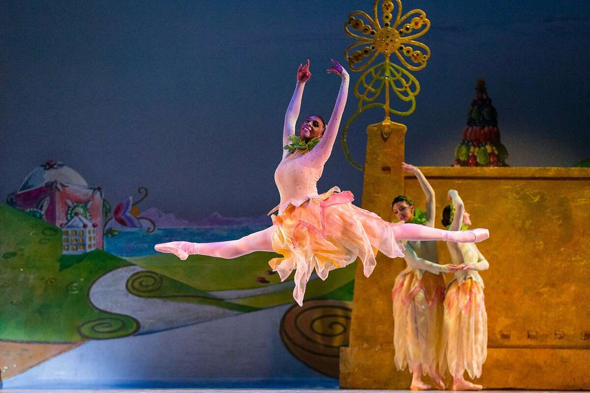 """Coral Martin in the """"Waltz of the Flowers"""" scene, from Oakland Ballet Company�s production of Graham Lustig�s """"The Nutcracker."""" Photo: John Hefti"""