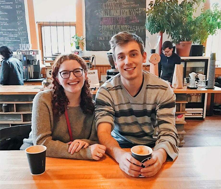 Wesleyan University students Linne Halpern, 22, and Sage Marshall, 21, are coeditors of Reverberations, an online magazine that publishes pieces by those 18 to 30 who write about their emotional reactions to various forms of art. Photo: Contributed Photo