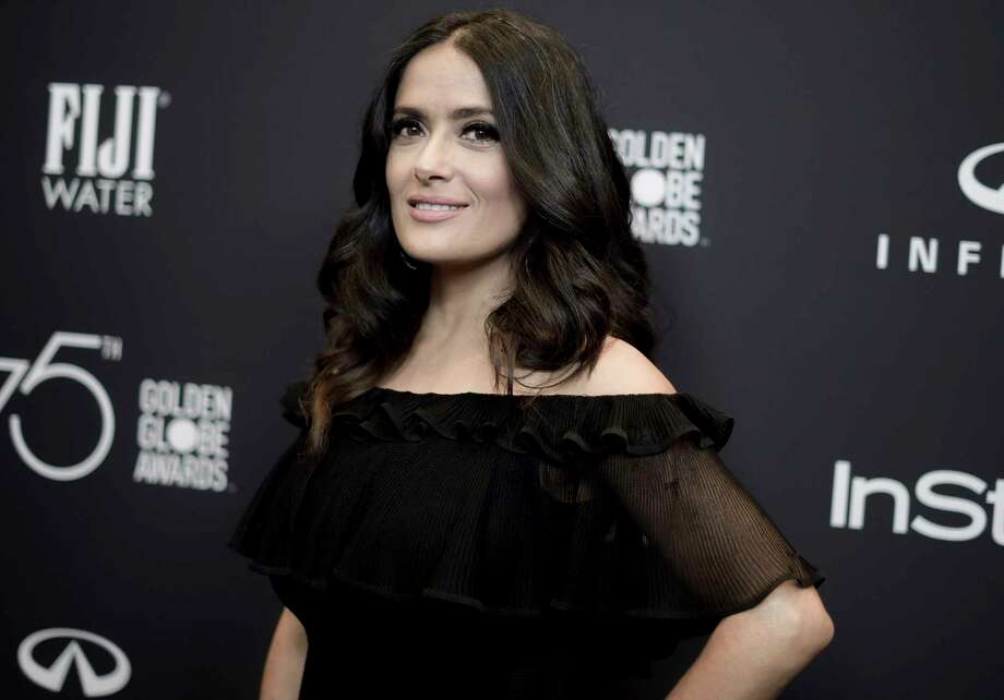 """In this Nov. 15, 2017 file photo, actress Salma Hayek attends the HFPA and InStyle Celebrate the 2018 Golden Globe Awards Season in West Hollywood, Calif. In an op-ed, Hayek says that her refusals of Harvey Weinstein's advances led to a nightmare experience making the 2002 Frida Kahlo biopic """"Frida."""" Photo: Richard Shotwell, INVL / 2017 Invision"""