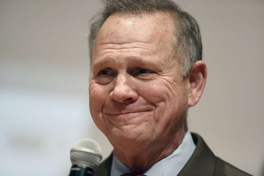 Roy Moore, a Republican from Alabama, pauses while speaking during an election night party in Montgomery, Alabama, U.S., on Tuesday, Dec. 12, 2017. The defeat of Moore in Alabama's U.S. Senate race by Democrat Doug Jones was a stunning rebuke to the GOP's anti-establishment wing led by Steve Bannon and a major political embarrassment for President Donald Trump. Photographer: Luke Sharrett/Bloomberg Photo: Luke Sharrett, Bloomberg