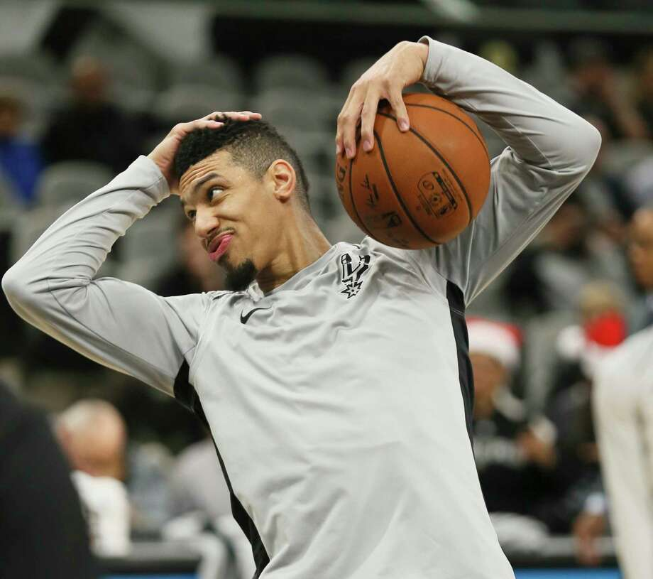 Spurs' Danny Green (14) jokes around during shoot around before the game against the Miami Heat at the AT&T Center on Wednesday, Dec. 6, 2017. Photo: Kin Man Hui, San Antonio Express-News / ©2017 San Antonio Express-News