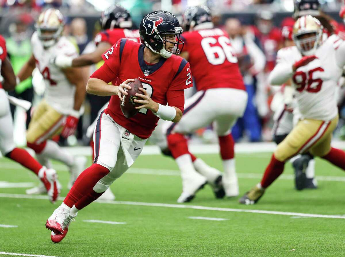 TEXANS' THREE KEYS TO VICTORY 1. T.J. Yates has to take a one-step drop and fling it to keep from getting obliterated by the NFL's best pass rush.