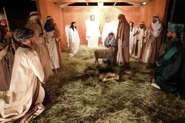 First Baptist Church's annual living nativity, photographed Dec. 13, 2017. James Durbin/Reporter-Telegram