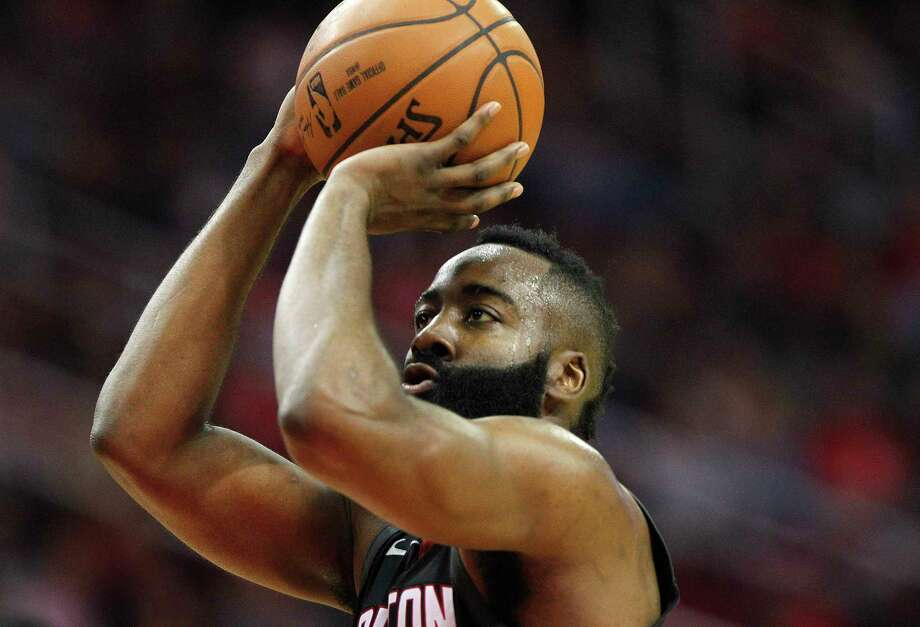 Houston Rockets guard James Harden (13) makes a free throw that was a result of a technical against the Charlotte Hornets at the Toyota Center on Wednesday, Dec. 13, 2017, in Houston. Photo: Elizabeth Conley, Houston Chronicle / © 2017 Houston Chronicle
