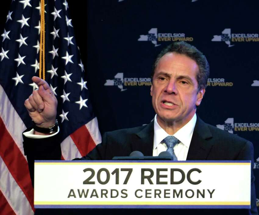 Governor Andrew Cuomo speaks at the 2017 REDC Awards program held at the Albany Capital Center Wednesday Dec 13, 2017 in Albany, N.Y. (Skip Dickstein/ Times Union)