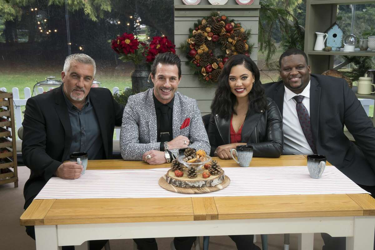 """ABC's """"The Great American Baking Show"""" with Paul Hollwood, Johnny Iuzzini, Ayesha Curry Anthony Adams."""
