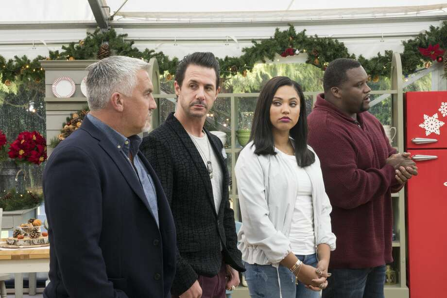 "ABC's ""The Great American Baking Show"" with Paul Hollwood, Johnny Iuzzini, Ayesha Curry Anthony Adams. Photo: Mark Bourdillion/ABC"