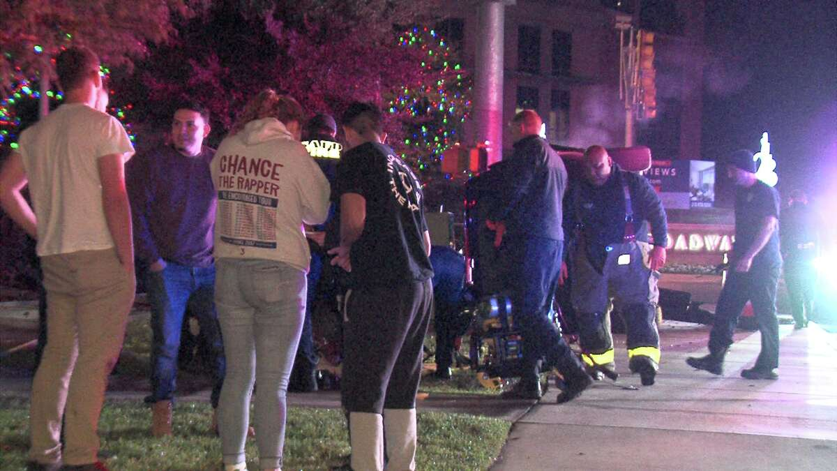 Police said the driver, who hasn't been identified, rolled his SUV over around 3:30 a.m. while turning off of Hildebrand Avenue onto Broadway Street.