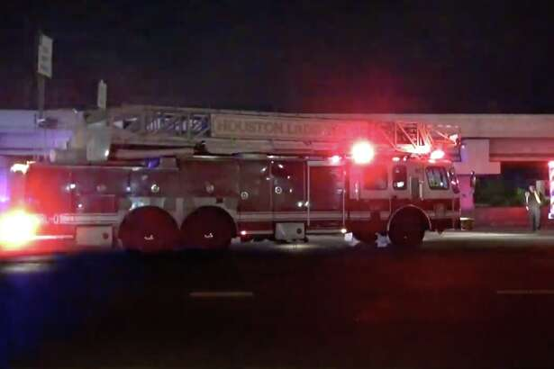 """A man trying to cross the Southwest Freeway was struck and killed by """"several vehicles,"""" HPD said."""