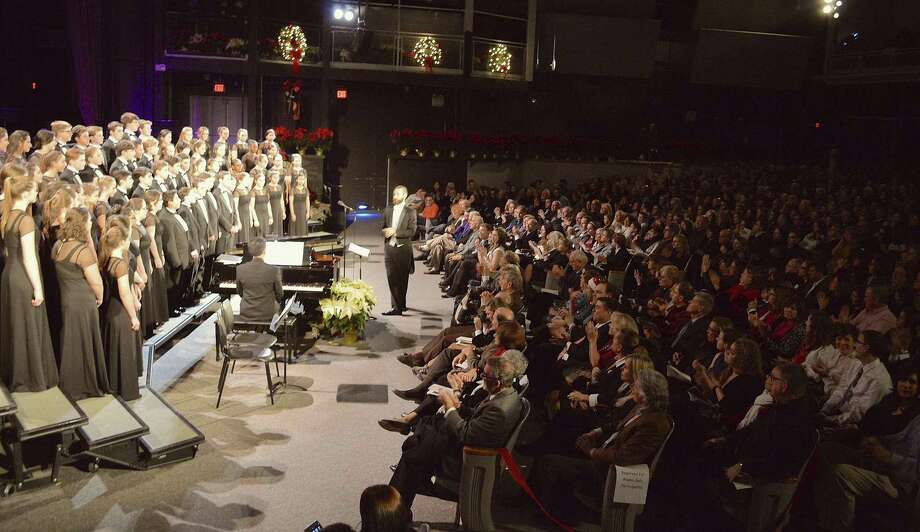 It was another sold-out house for the Saturday night performance of the 75th annual Candlelight Concert at Staples High School. Photo: Jarret Liotta / For Hearst Connecticut Media / Westport News