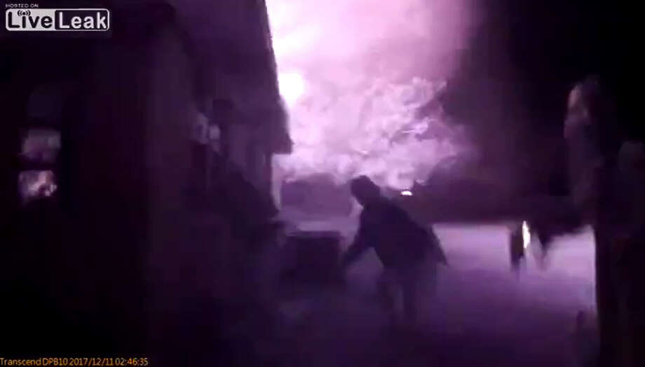Body cam footage from a deputy with the Panola County Sheriff's Office shows emergency responders racing inside a burning home to save a woman. Photo: Panola County Sheriff