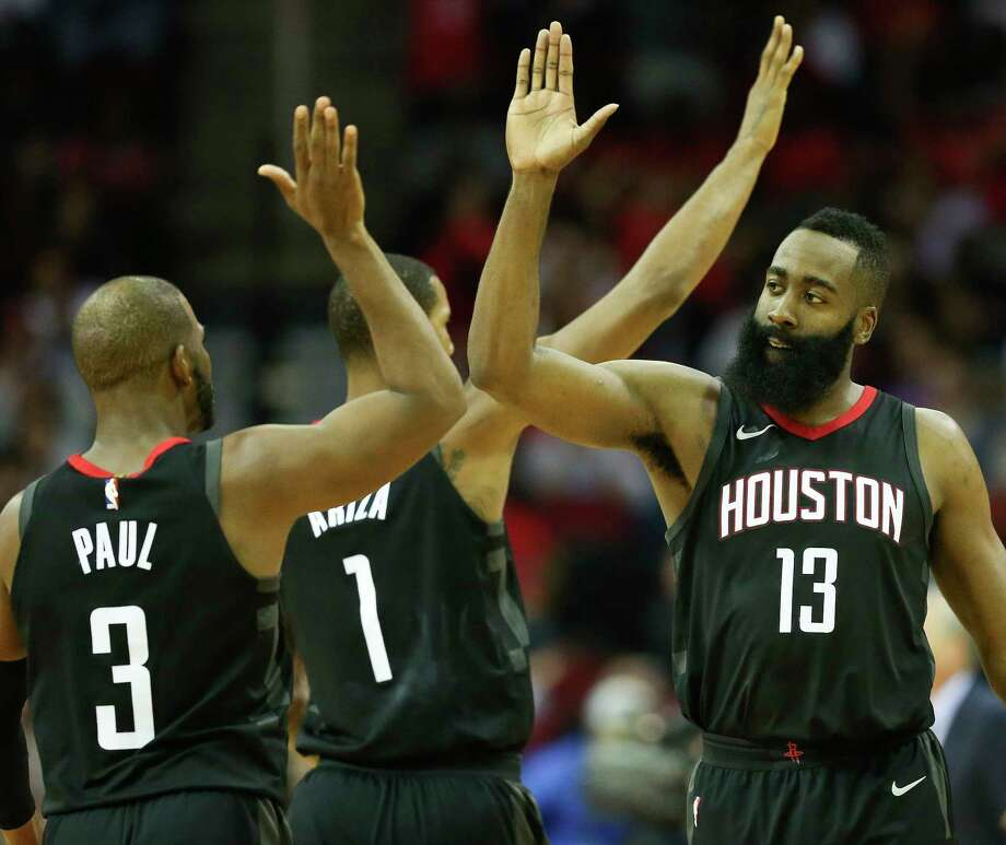 PHOTOS: Rockets game-by-gameRockets coach Mike D'Antoni said he did plan to use the time without Luc Mbah a Moute to take more of a look at his three-guard lineups with James Harden, Eric Gordon and Chris Paul on the floor together.Browse through the photos to see how the Rockets have fared through each game this season. Photo: Eric Christian Smith, FRE / FR171023 AP
