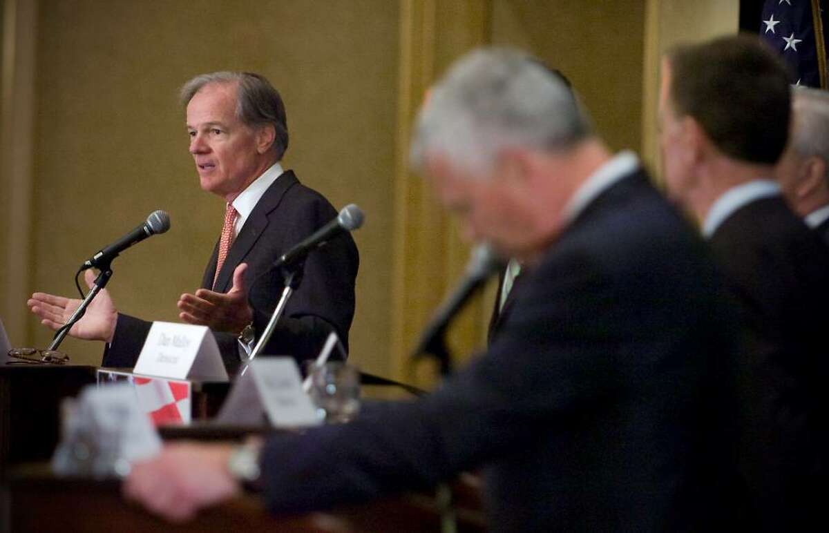 Republican candidate Tom Foley participates in the 2010 Gubernatorial Debate at the Stamford Plaza Hotel & Conference Center in Stamford, Conn. on Tuesday June 29, 2010.