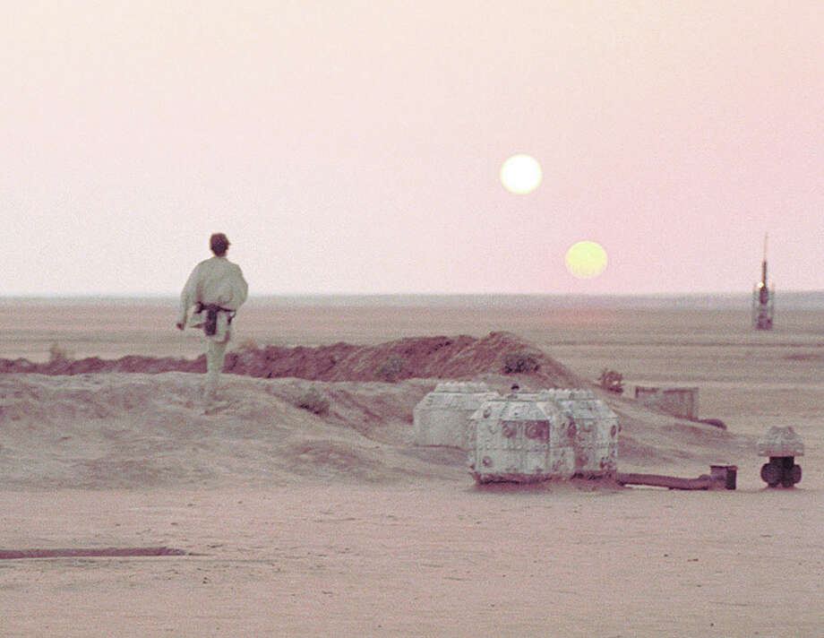 The two suns of Tatooine. Photo: Houston Chronicle