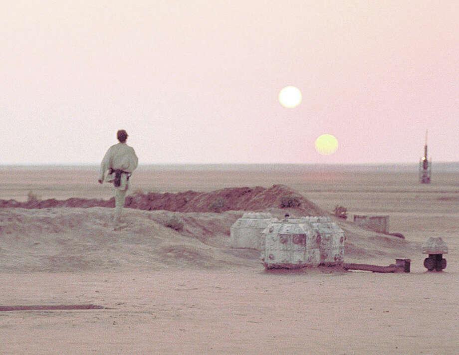 The two suns of Tatooine. Photo: Houston Chronicle