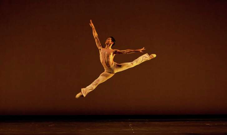 "Houston Ballet principal dancer Charles-Louis Yoshiyama in Stanton Welch's ""Clear,"" one of the works the company will perform at the Jacobs Pillow Dance Festival in August 2018."
