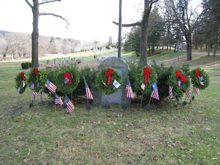 The Brooks-Greenwood Chapter of the Daughters of the American Revolution will join the national Wreaths Across America event with its own ceremony on Saturday, Dec. 16 at 12 p.m. at Forest View Cemetery, Rowley Street, Winsted. The public is welcome to attend. Photo: Contributed Photo