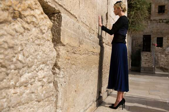 Ivanka Trump, the daughter of US President Donald Trump, prays at the Western Wall, the holiest site where Jews can pray, in Jerusalems Old City on May 22, 2017.  / AFP PHOTO / POOL / Heidi Levine        (Photo credit should read HEIDI LEVINE/AFP/Getty Images)