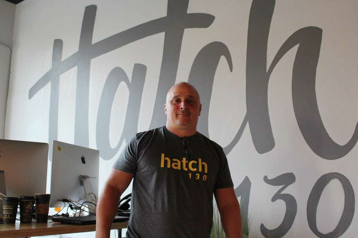 Hatch 130 owner Scott Lilly in his company's Bridgeport offices.