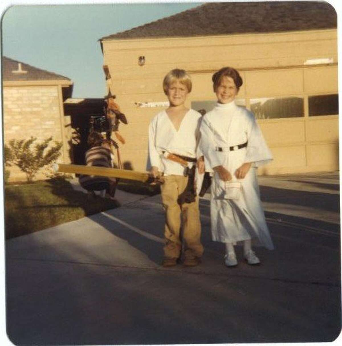 Brian Tees and Jennifer (Cardner) Nichols in 'Star Wars' costumes in the 1980s