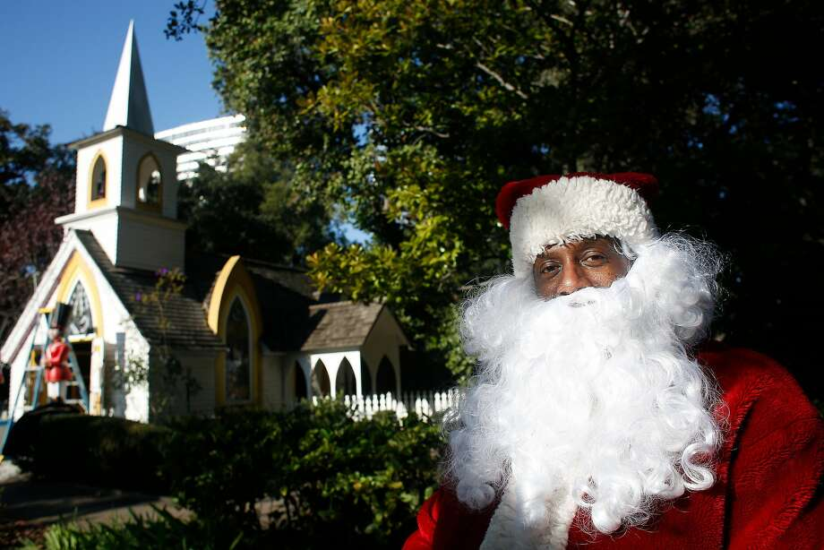 Eric Martin, Fairyland's Santa Claus, poses for a portrait outside the Chapel of Peace at Fairyland  on Thursday, December 14, 2017 in Oakland, Calif. Photo: Lea Suzuki, The Chronicle