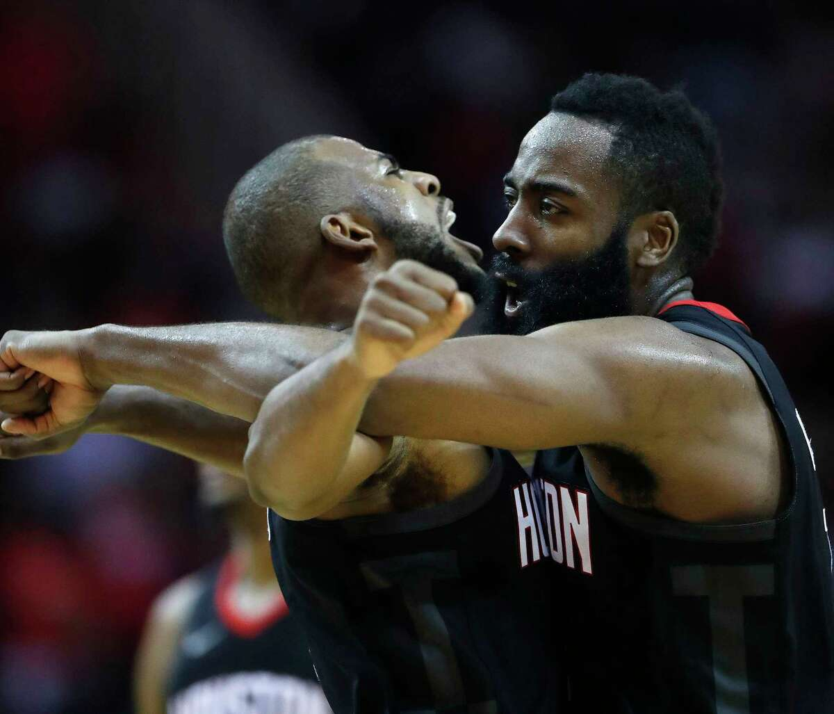 Will James Harden and Chris Paul be the combo that ends the Warriors' three-year reign in the NBA's Western Conference? The Rockets have showed they can match up to Golden State this year, at least in the regular season.