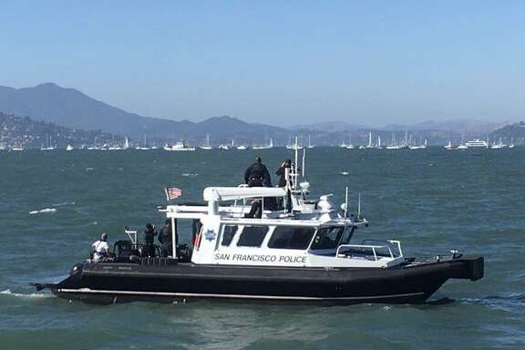 A swimmer was transported to the hospital in serious condition after being bitten by a seal lion while swimming at Aquatic Park in San Francisco, authorities said.